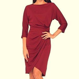 H by Halston Shiraz Side Knotted Dress- 1XL